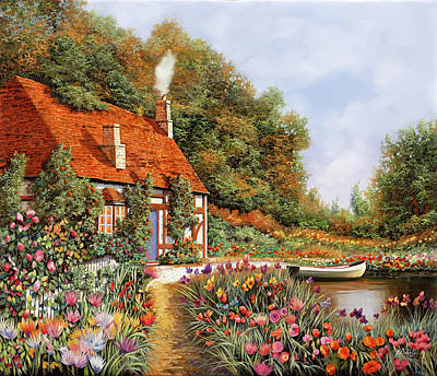 Royalty-Free and Rights-Managed Images - Una Barca E Tanti Fiori by Guido Borelli