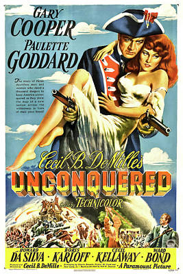 Royalty-Free and Rights-Managed Images - Unconquered, with Gary Cooper and Paulette Goddard, 1947 by Stars on Art