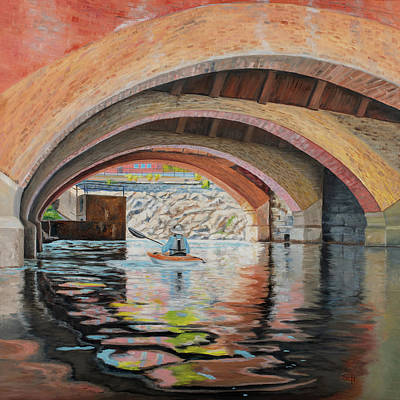 Painting - Under The Mill by Susan E Hanna