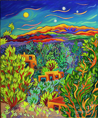Painting - Under the Spell of Three Stars by Cathy Carey