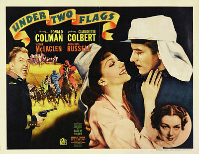 Travel - Under Two Flags, with Ronald Colman and Claudette Colbert, 1936 by Stars on Art