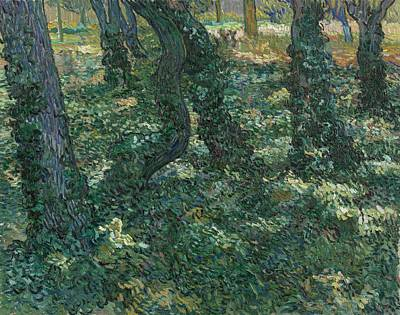 David Bowie Royalty Free Images - Undergrowth Saint Remy de Provence July 1889 Vincent van Gogh 1853  1890 Royalty-Free Image by Arpina Shop