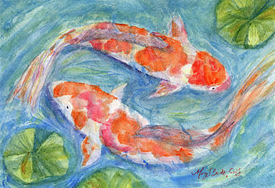 Painting - Underwater Ballet by Mary Benke