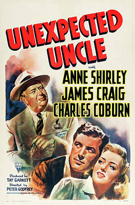 Travel - Unexpected Uncle, with Anne Shirley and James Craig, 1941 by Stars on Art