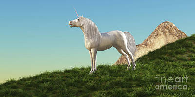 World Forgotten Rights Managed Images - Unicorn Stallion Royalty-Free Image by Corey Ford