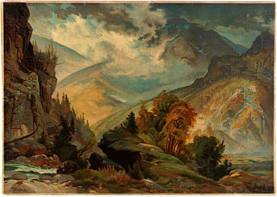 David Bowie Royalty Free Images - Unidentified Thomas Moran The White Mountains 1874 Royalty-Free Image by Arpina Shop