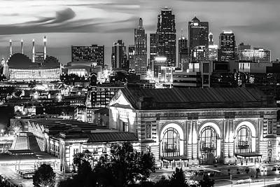 Basketball Patents Royalty Free Images - Union Station and Kansas City Skyline - BW Edition Royalty-Free Image by Gregory Ballos