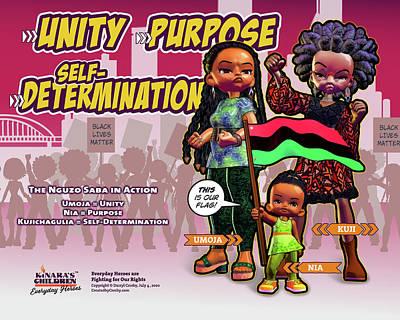Digital Art - Unity, Purpose, Self-Determination by Darryl Crosby