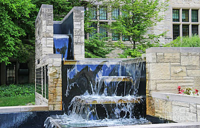 Ethereal - University Hall Fountain  University of Toledo  1597 by Jack Schultz