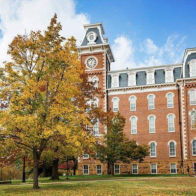 Royalty-Free and Rights-Managed Images - University of Arkansas Historic Old Main in the Fall by Gregory Ballos