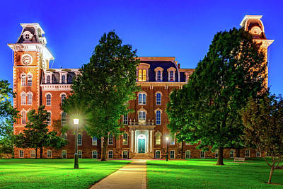 Royalty-Free and Rights-Managed Images - University of Arkansas Old Main Building at Dusk by Gregory Ballos
