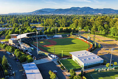 Sports Royalty-Free and Rights-Managed Images - University of Oregon Baseball Stadium by Mike Centioli