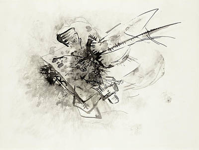 David Bowie Royalty Free Images - Untitled 1916 drawing in high resolution by Wassily Kandinsky Royalty-Free Image by Arpina Shop