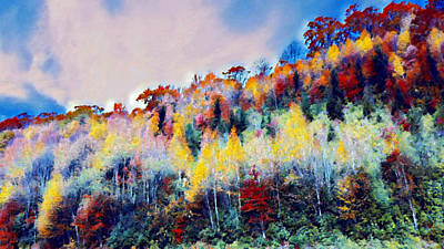 Abstract Graphics - Up the Mountain  by Ally White