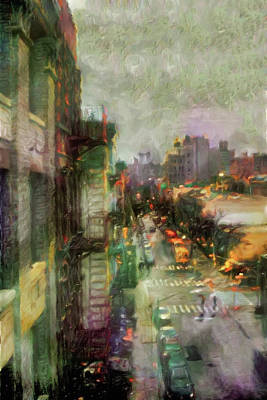 City Scenes - Urban Rain by Susan Maxwell Schmidt