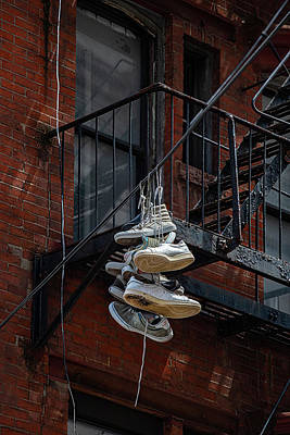 Thomas Kinkade Rights Managed Images - Urban Street Art - Sneakers Royalty-Free Image by Robert Ullmann