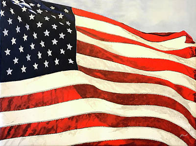 Royalty-Free and Rights-Managed Images - US Flag by Guido Borelli