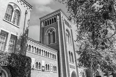 Lake Life - Usc Bovard Administration Building Cloudy  by John McGraw