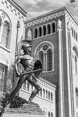 Lake Life - USC Trojan Statue  by John McGraw