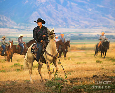 Royalty-Free and Rights-Managed Images - Utah Cowboy Riding on the Range by Diane Diederich