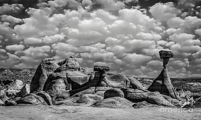 Vintage Movie Stars - Utah Hoodoos Monochrome by Mitch Shindelbower