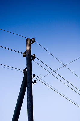 Pop Art - Utility Pole and Blue Sky - 219206 by Marcio Faustino
