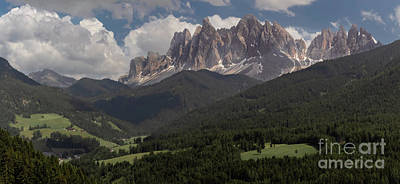 Namaste With Pixels Royalty Free Images - Val di Funes Royalty-Free Image by Norma Brandsberg