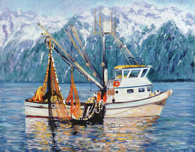 Painting - Valdez Fishing Boat by Stan Sweeney