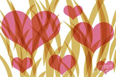 Digital Art - Valentine red brown by Dagmar Schneider