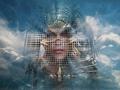 Digital Art - Valkyrie Phantom or Optical Illusion of Face by George Grie