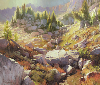 Classical Masterpiece Still Life Paintings - Valley of Stones by Steve Henderson