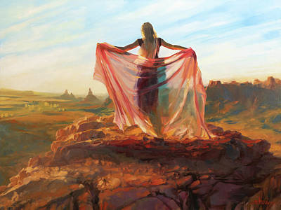 Modern Feathers Art - Valley of the Goddess by Steve Henderson