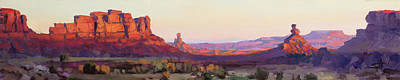 Target Threshold Watercolor - Valley of the Gods by Steve Henderson