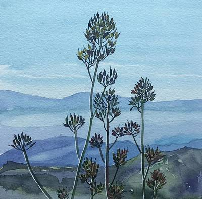 Target Threshold Watercolor - Valley View by Luisa Millicent