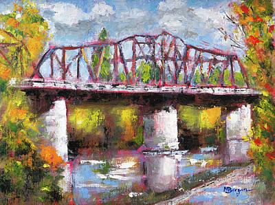 Painting - Van Buren Bridge, Corvallis by Mike Bergen