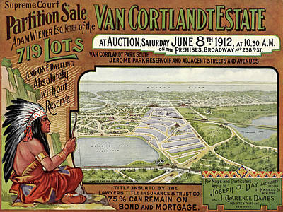 Anchor Down Royalty Free Images - Van Cortlandt Village 1912 Royalty-Free Image by Andrew Fare
