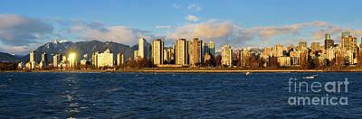 Firefighter Patents - Vancouver West End Skyline 2021 by Terry Elniski