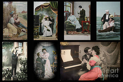 Studio Grafika Typography - Various vintage couples in the early 1900s by Patricia Hofmeester