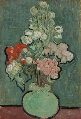 David Bowie Royalty Free Images - Vase of Flowers Auvers sur Oise June 1890 Vincent van Gogh 1853  1890 Royalty-Free Image by Arpina Shop
