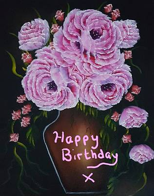 Travel Rights Managed Images - Vase of gorgeous beauty birthday wishes  Royalty-Free Image by Angela Whitehouse