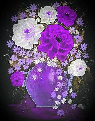 When Life Gives You Lemons - Vase of grandeur purple  by Angela Whitehouse