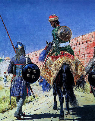 Catch Of The Day - Vasiliy Vereshchagin  Mounted Warrior in Jaipur by Artistic Rifki