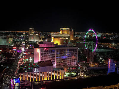 Impressionist Landscapes - Vegas View by Alex Edmisten