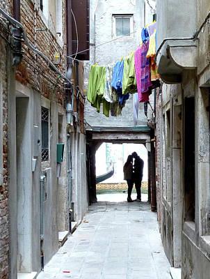 Photograph - Venice Lovers by Jo Johnson