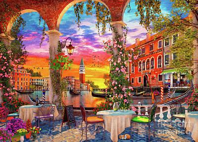 Digital Art - Venice Restaurant by MGL Meiklejohn Graphics Licensing