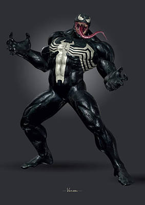 Royalty-Free and Rights-Managed Images - Venom - Marvel by Samuel Whitton