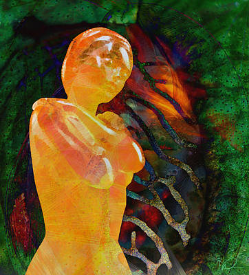 Painting Royalty Free Images - Venus in Amber Royalty-Free Image by David Derr