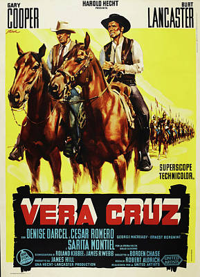 Personalized Name License Plates - Vera Cruz, with Gary Cooper and Burt Lancaster by Stars on Art