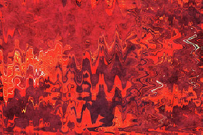 Royalty-Free and Rights-Managed Images - Vermilion Treasure - Contemporary Abstract - Abstract Expressionist painting - Red, Crimson, Scarlet by Studio Grafiikka