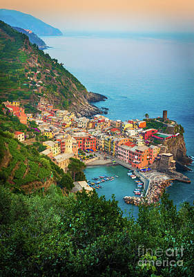 Landscapes Royalty-Free and Rights-Managed Images - Vernazza from above by Inge Johnsson